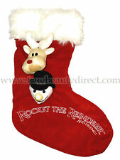 ROCKET THE REINDEER AND FRIENDS RED 3D CHRISTMAS STOCKING SNOWMAN RUDOLPH XMAS
