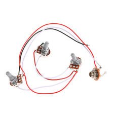 1 Set Wiring Harness-Prewired 2V1T1J for JB Bass Guitar with 3-500k Pots