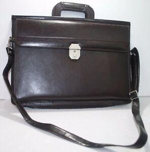 Vintage American Tourister Brown Messenger Bag Briefcase Expandable Portfolio