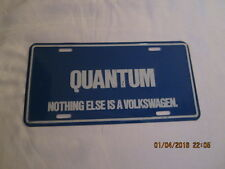"Vintage Metal License Plate - QUANTUM Volkswagen  - 6"" by 12"" - 1980's"