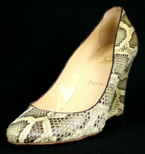 CHRISTIAN LOUBOUTIN Natural Snakeskin Classic Heels Wedges Pumps 39