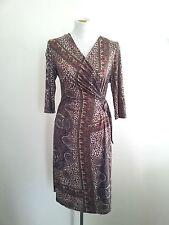 Effortless Style! James Lakeland size 42 viscose blend wrap dress, 3/4 sleeves