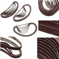 10Pcs Sanding Belt Belts for Sander Power Tool 40,60,80,100,150,180,400,600 Grit