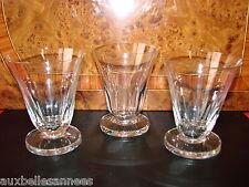 ANCIEN VERRE A PIED x 3 / EAU VIN COUPE ALCOOL VIGNE RAISIN OLD GLASS