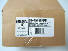 Ortronics Or-Mm6Hmf2Ru - Mighty Mo 6 Horizontal Cable Management Panel