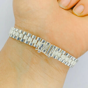 New 925 Sterling Silver Rolex Bracelate Band Unisex
