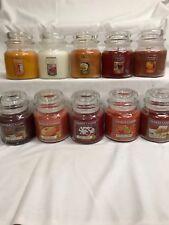 YANKEE CANDLE (2) Medium 14.5 oz Jar Candles U PICK Fall, Winter Scents x 2!!