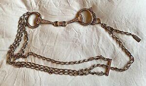 Stephen Collins Diamante snaffle Belt, Chains, Adjustable