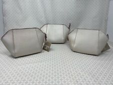 ULTA Cosmetic Make up Makeup Case Bag Pouch Metalic set lot x3 travel