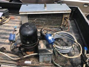 Used Tecumseh AH311GT-169 1HP R-12 / R401A/Hotshot 230V Condensing Unit W/evap