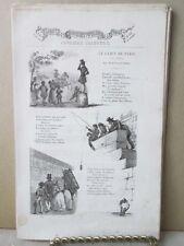 Vintage Print,LE GAMIN DE PARIS,French Songs+Music,1859