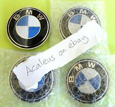 BMW hub caps centre de roue 68 mm 4x Badges E34 E36 1 3 5 7 series