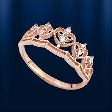 Russische Rose Gold 585 Krone Goldring mit Diamanten. Neu  Glänzend.