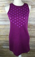 Juicy Couture Juniors Petite Small Purple Sleeveless Dress Pockets USA