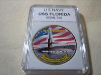 US NAVY SUBMARINE - USS FLORIDA / SSBN-728 Challenge Coin