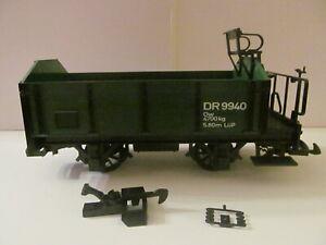 LGB - G Scale - Green Open Wagon Car (DR 9940) - Loose - Light Wear