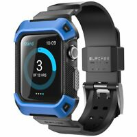 For Apple Watch 1st Gen SUPCASE Smart Watch Band Case with Strap Bands 38mm BLUE