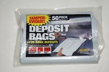 MMF Industries Deposit Bags 9 x 12 Inches, Clear, 50 per Pack