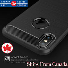 For Apple iPhone X XR XS Max 8 7 Plus Heavy Duty Carbon Fiber Slim Case Cover