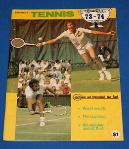 1973 - 74 Australian & International Tennis Year Book 62 Pages