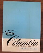VINTAGE COLUMBIA CARBON PAPER BLACK SOLID GOLD 8 1/2x11 TOTAL SHEETS 100 IN BOX