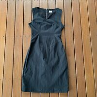 Gorman Size 8 Black Pencil Dress Fitted Top A Line Skirt Business Cocktail