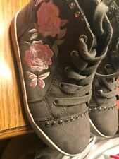 Cute girl High Top Sneakers with Roses Sz 12 Samara by Report