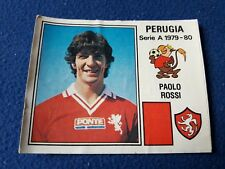 PAOLO ROSSI PERUGIA 1979/80 Figurina CALCIATORI Panini N°221 recuperata