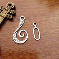 10pcs OT clasp Hook Charm Tibet silver diy jewelry Making Fit necklace 7564