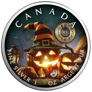 Kanada - 5 Dollar 2019 - Maple Leaf Halloween The Witching Hour - 1 Oz Silber ST