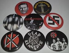 8 Dead Kennedys pin badges 25mm punk rock 1980's Jello Biafra Frankenchrist