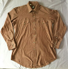 Karman Western Pearl Snap Button Down Shirt Large Long Tail Kenny Rogers Plaid