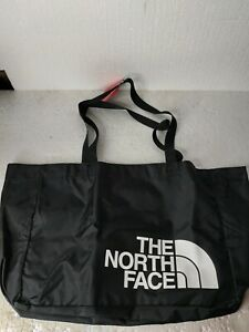The North Face MD Loop Tote Bag Black White Logo New with Tags