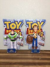 """Toy Story 4 Posable Woody 9"""" & Buzz Lightyear 8"""" Action Figures New Disney Pixar"""
