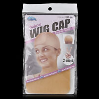 2pcs Unisex Nylon Hair Wig Weaving Stocking Liner Stretch Mesh Elastic Snood Cap