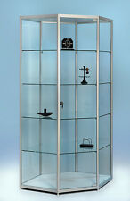 Glasvitrine, Für Sammler, für Museen, Showcase H190x110x60 F-5 Hex