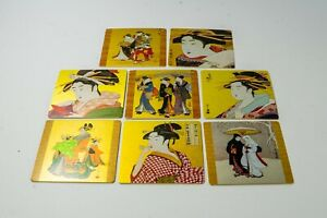 """Japanese Paper Coasters """"Ukiyoe"""" Genre Picture 8 Count"""