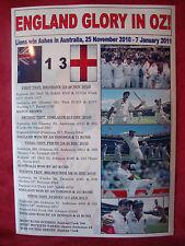 England 2010/11 Ashes winners - souvenir print