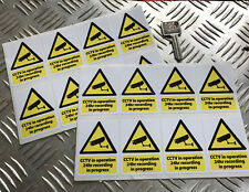 CCTV IN OPERATION STICKER SET police / safety x16 car stickers