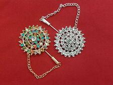 Hijab Pins Hijaab or  Scarf pin brooches bonnet pin  colourful pins set of 2