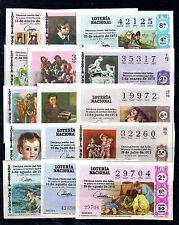 España Loteria Nacional Pintura año 1972 (BL-287)