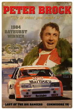 PETER BROCK VK BATHURST WINNER VINTAGE TIN SIGN