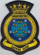 HMS Manchester Royal Navy Embroidered Crest Badge Patch - MOD Approved