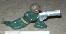 ca 1960'S BARCLAY DIMESTORE LEAD TOY SOLDIER - MACHINE GUNNER VG Condition #212