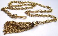 grand collier sautoir ou ceinture accessoire vintage couleur or belle légère 727