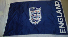 "Official ""FA"" England Supporters Blue Team Badge Football Flag 5' x 3' Approx"