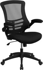 Thornton's Mid-Back Black Mesh Swivel Task Chair with Mesh Padded Seat