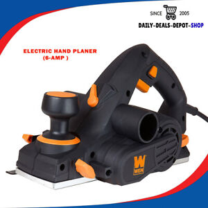 Electric Hand Planer 6Amp 3-1/4-Inch Corded Hand Held Woodworking Furniture Tool