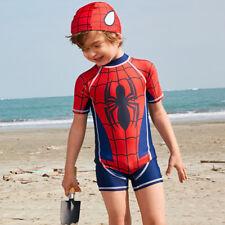 Bambini Spider Man Shorty Costumi Da Bagno Abbigliamento Tuta Stinger Jump Suit surf nuoto UK