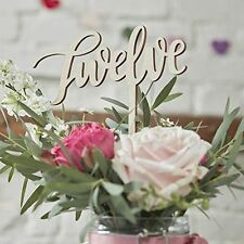 Ginger Ray Wooden Table Numbers 1-12 Wedding Decoration Boho Collection